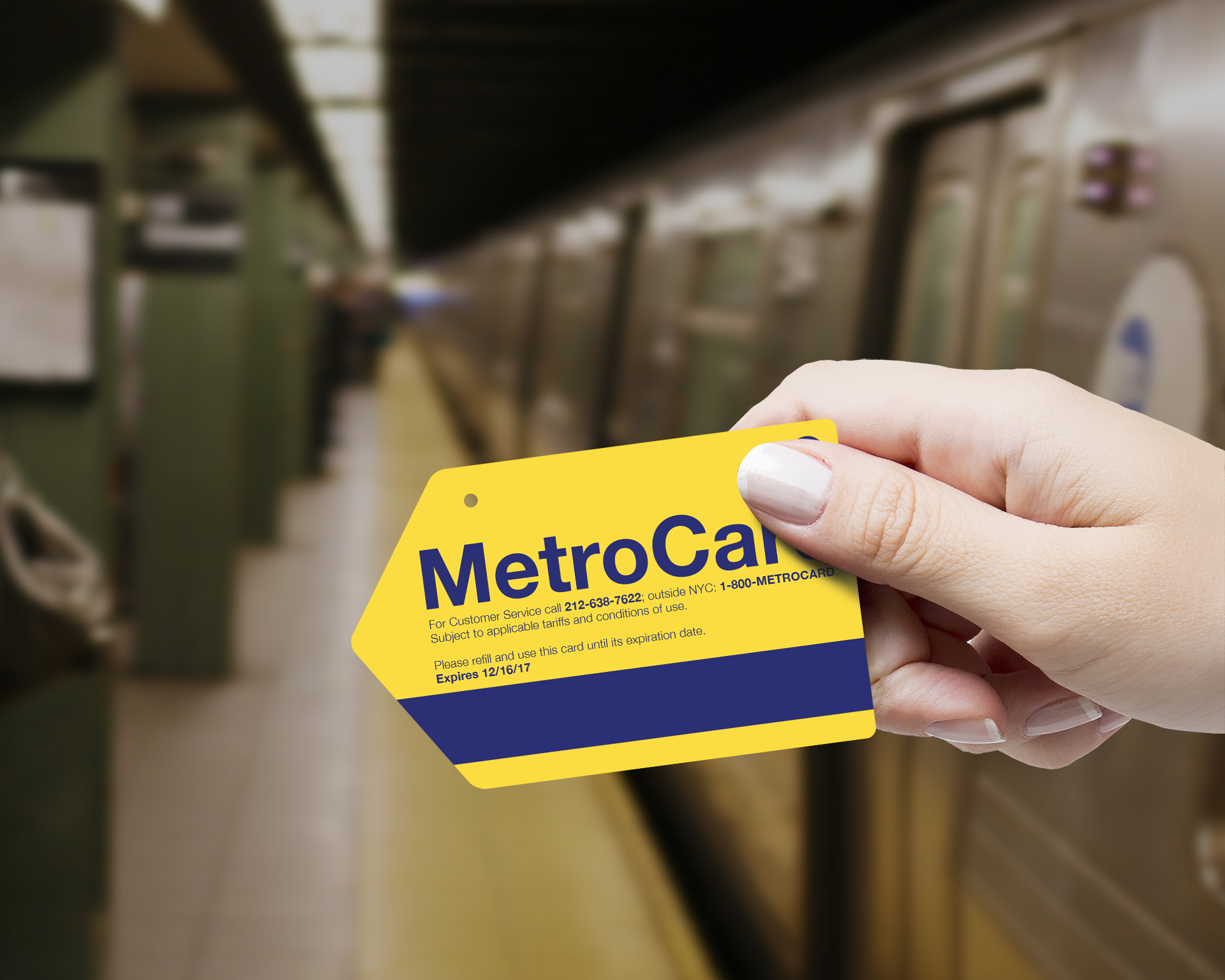 metrocard-holding